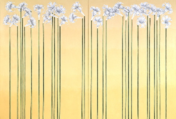 Forest of lilies, year: 1988, size: 210x380cm, material: oil on canvas, photographer: Christian Bauer, Basel, CH