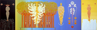 Wings of silence (Triptych), year: 1995/96, size: 140x440cm, material: oil on canvas, photographer: Josef Riegger, Allschwil, CH
