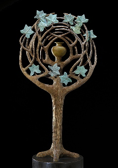 Memory of the tree, year: 1997, size: 15x50x180cm, material: bronze, patinated, photographer: Josef Riegger, Allschwil, CH