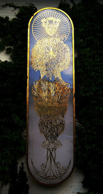 Image of heart, year: 2003-2005, size: 400x100x5cm, material: paper cut, metal acrylic diffusion, paper, photographer: private